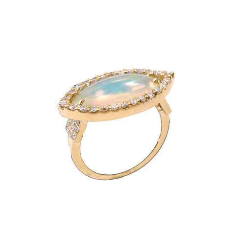 Australian Opal Marquise Ring