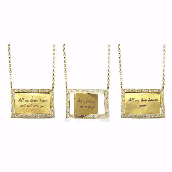 Love Notes Flip Necklace