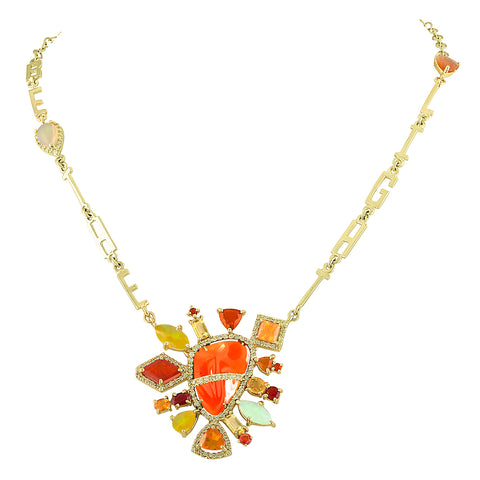 Fire Opal Australian Necklace