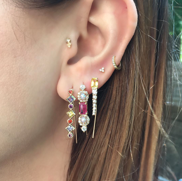 Pattern Ear Pin