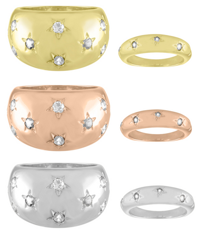Diamond Celeste Rings