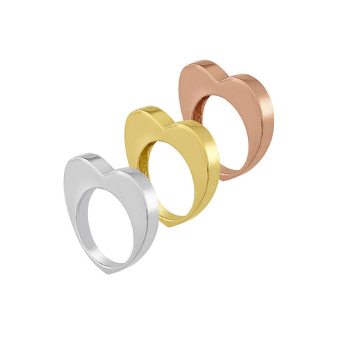 Heart Stack Rings