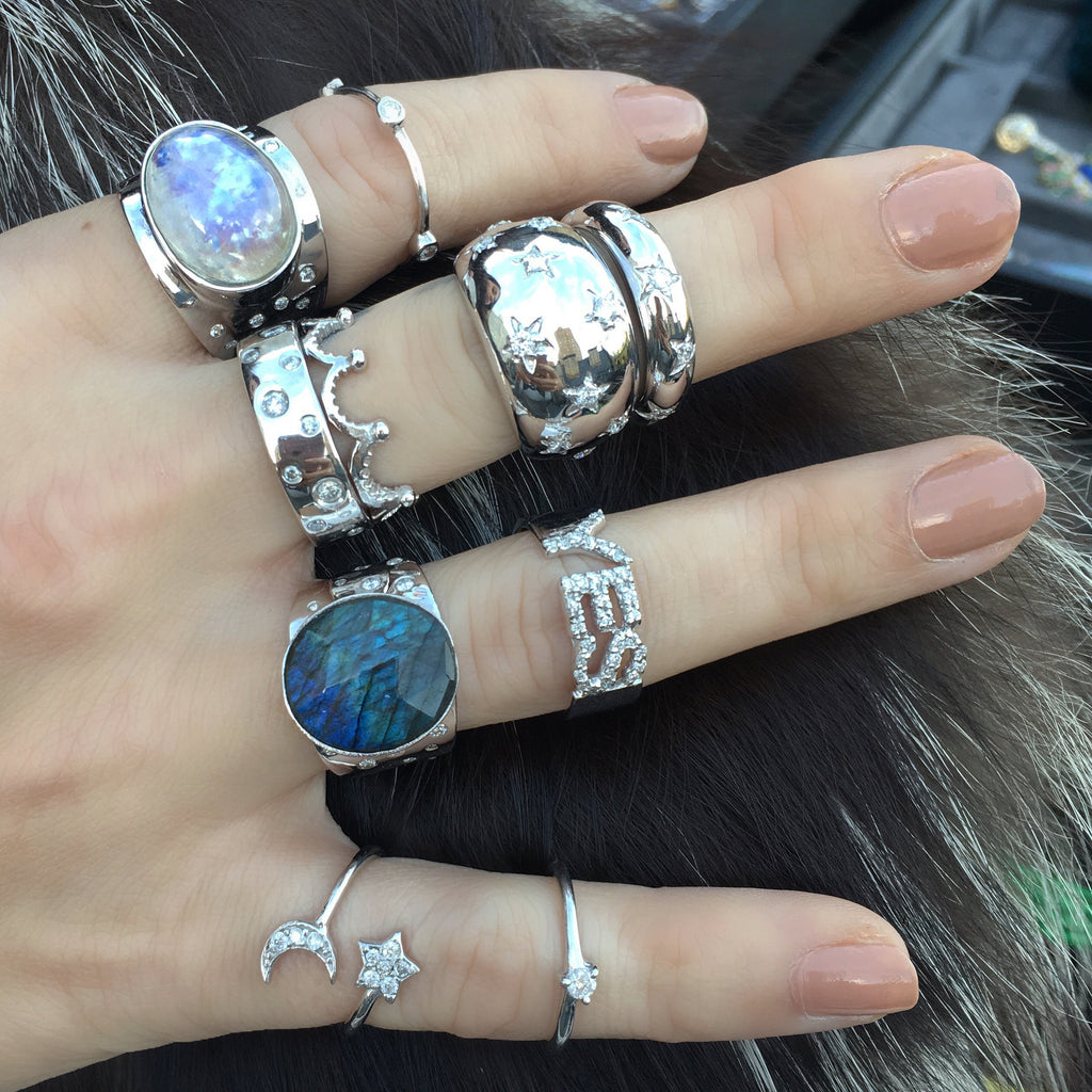 Bubble Stack Rings