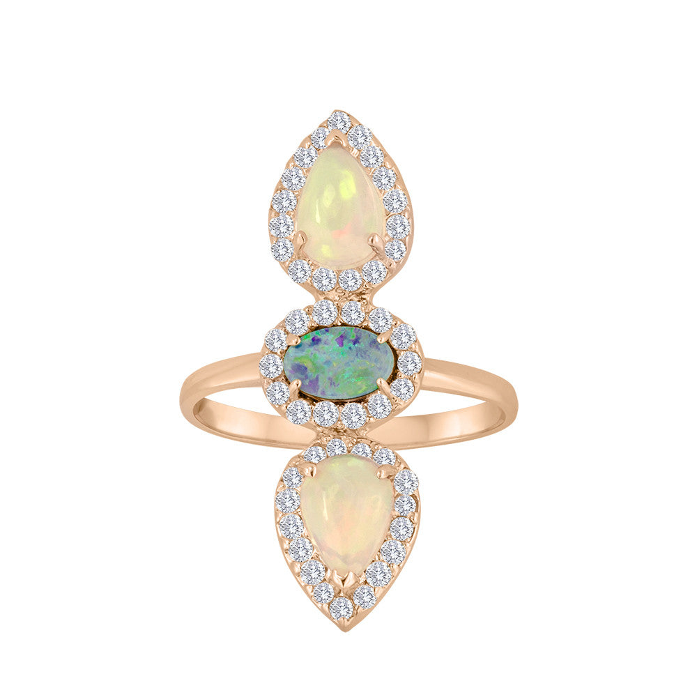 Opal Diamond Rings