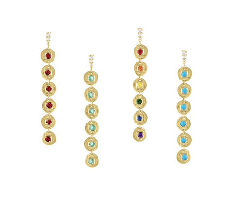 In Circles Rainbow Drop Earrings