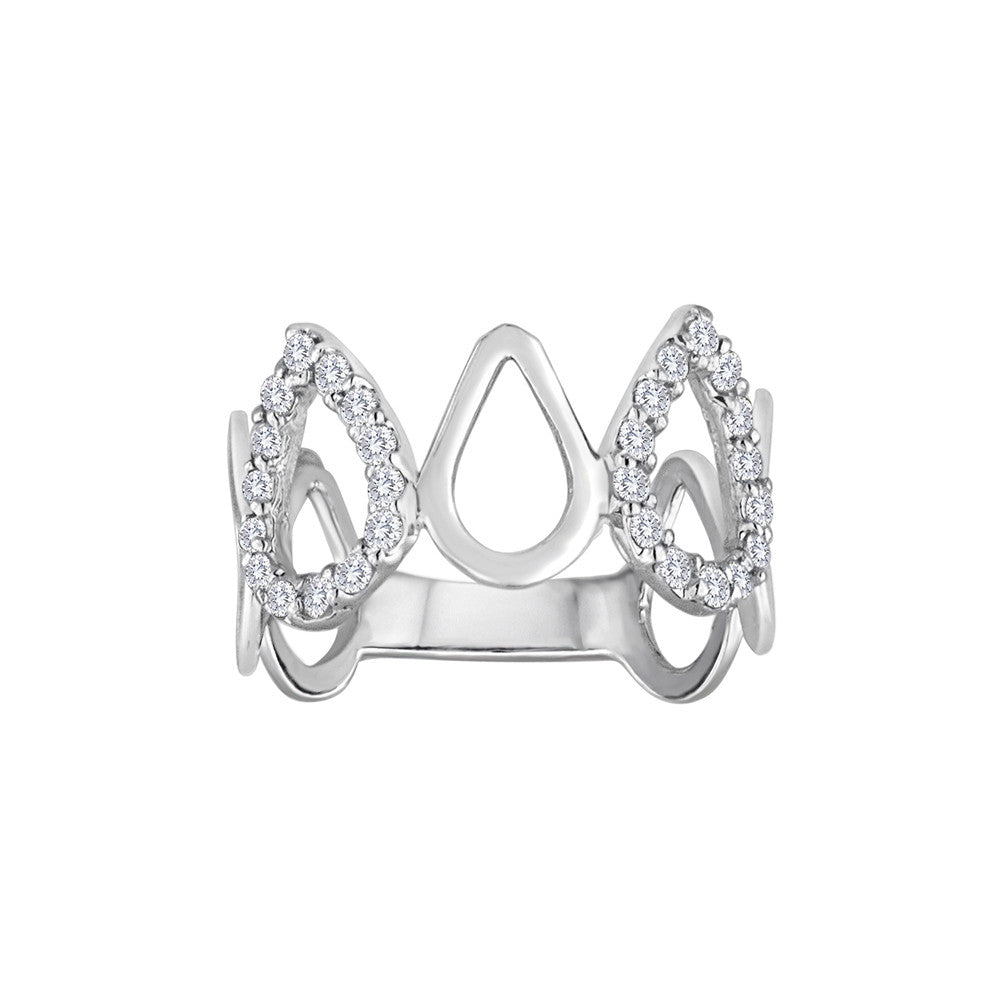 Cry Me a River Diamond Stack Rings