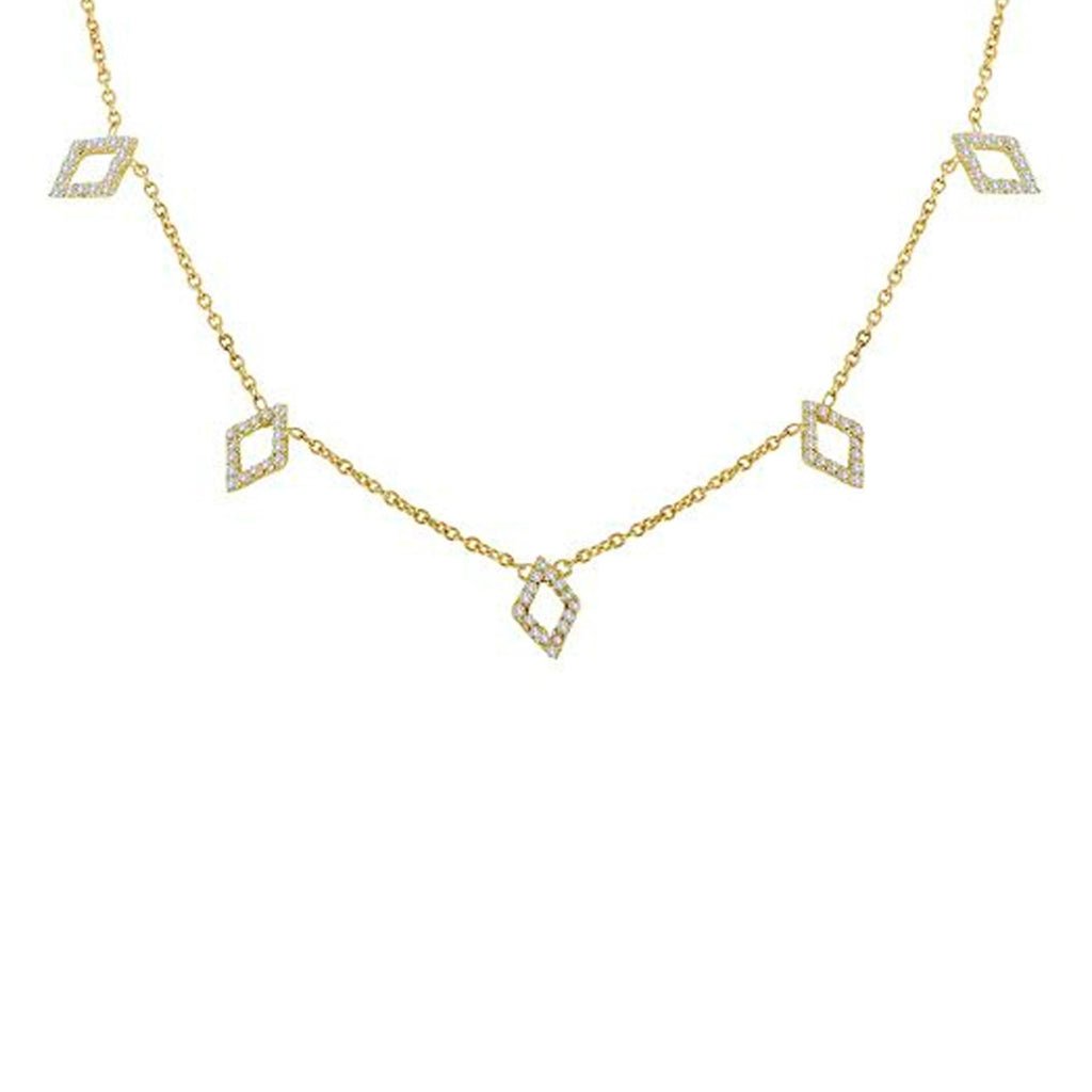 Mini Diamond Shapes Diamond Necklace