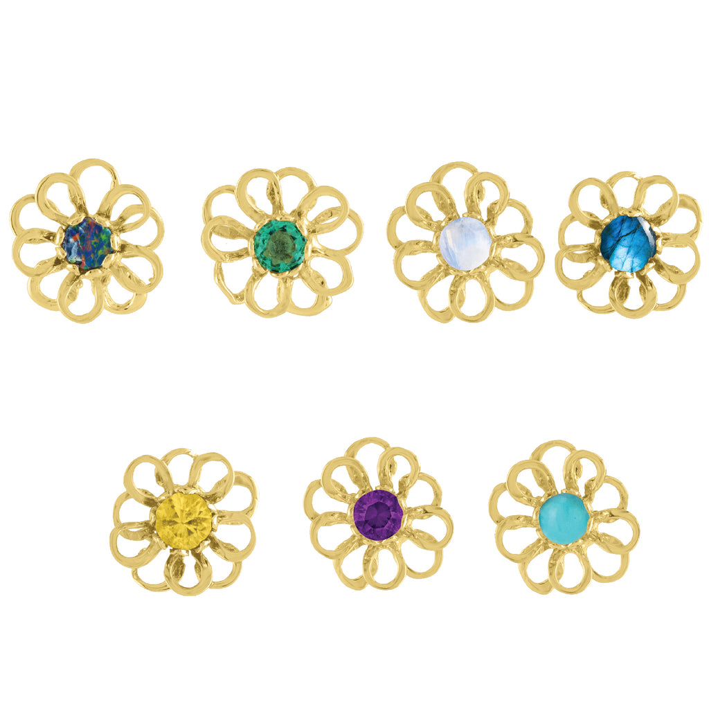 Golden Flower Studs