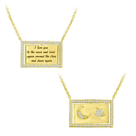 Moon and Back Flip Necklace