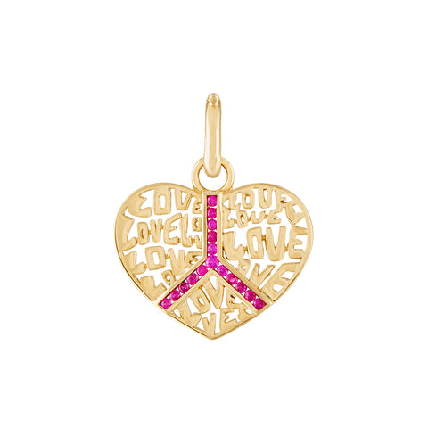 Peace & Love Pendant
