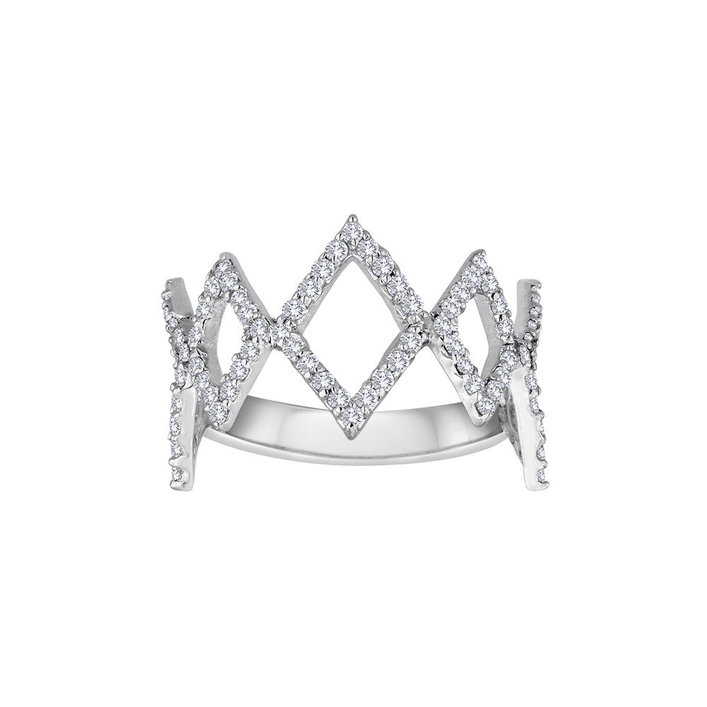 Jagged Edge Diamond Stack rings