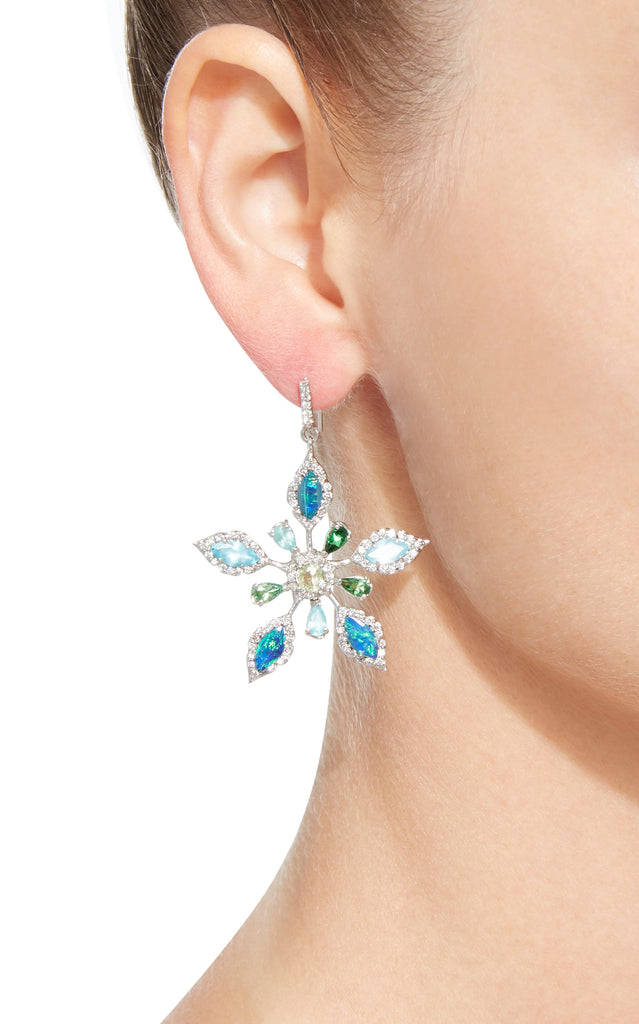 Shades of Blue Flower Earring