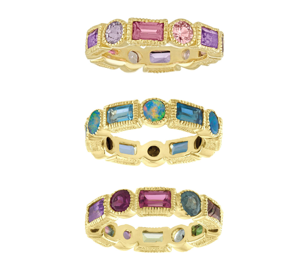 Baguette Round Eternity Band