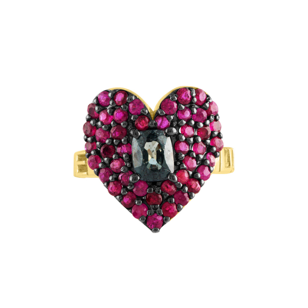 Love Luck Heart Ring