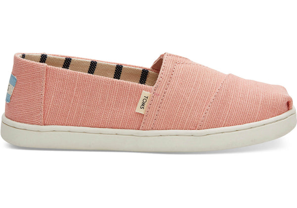 Toms Coral Pink Heritage Canvas