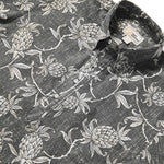 Reyn spooner ALOHA WELCOME Men's Pullover SS SHIRT (BLACK ONYX)
