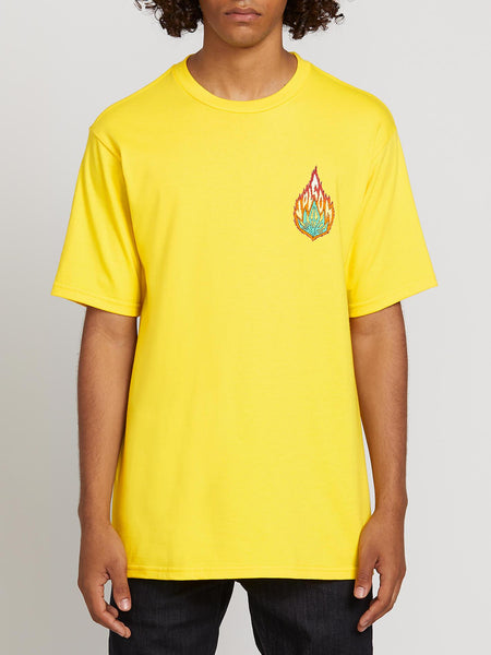 VOLCOM LIT GRASS S/S TEE TRUE YELLOW
