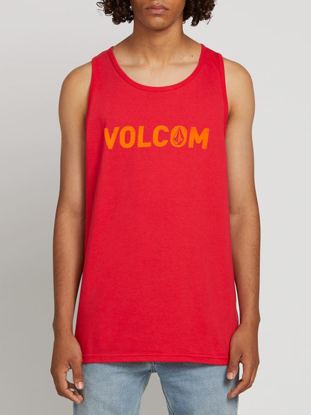 VOLCOM CEMENT TANK RED