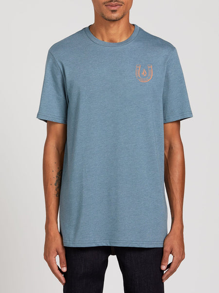 VOLCOM LUCKY YEW MEN'S SS TEE- STORMY BLUE