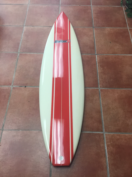 BatonR Red Stripe Surfboard