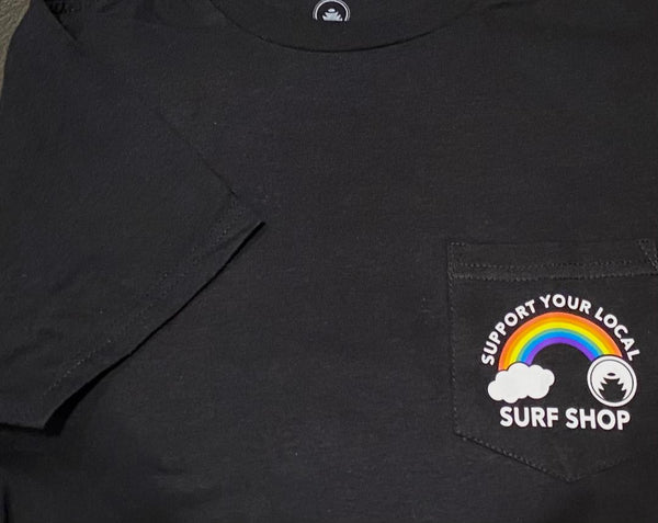 SUPPORT YOUR LOCAL SURF SHOP (BTR) POCKET TEE