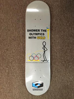 Consolidated Skateboard Deck Team SHOWER OLYMPICS 8""