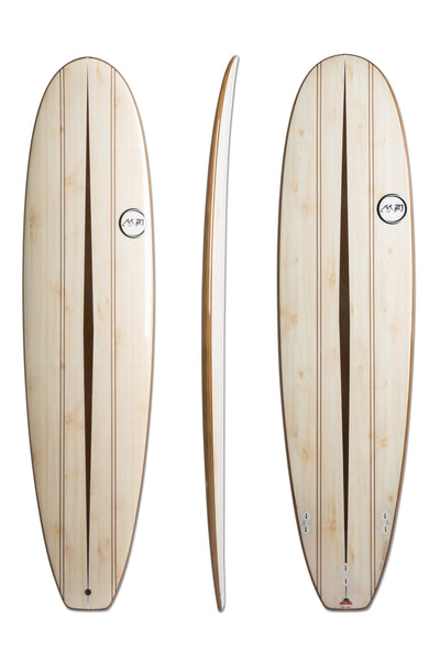 M21 8'0 CRUISER SURFBOARD WOODGRAIN