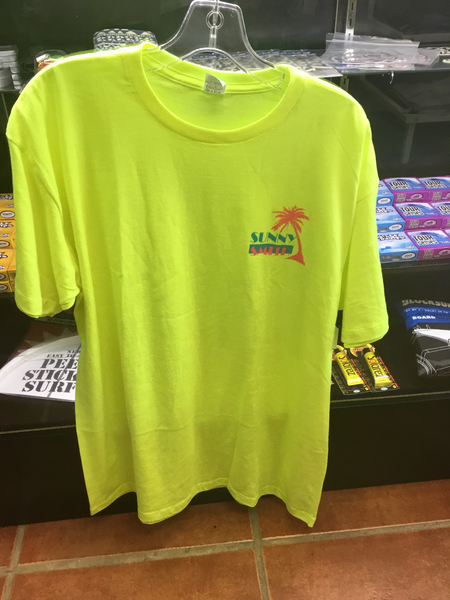 Sunny Smith Palm Tee Florescent Yellow