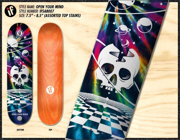 "IF Skate Co ""OPEN YOUR MIND"" COMBO BREAKER Deck"