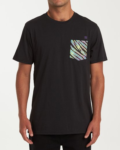BILLABONG TEAM POCKET SHORT SLEEVE T-SHIRT BLK