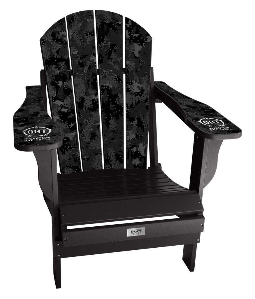Operation Hat Trick - Custom Sports Chair - Black Camo