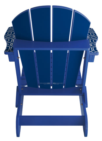 Blue Geometric Lifestyle Chair
