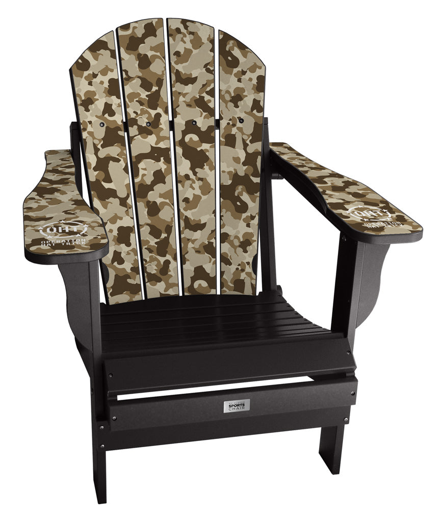 Operation Hat Trick - Custom Sports Chair - Brown Camo