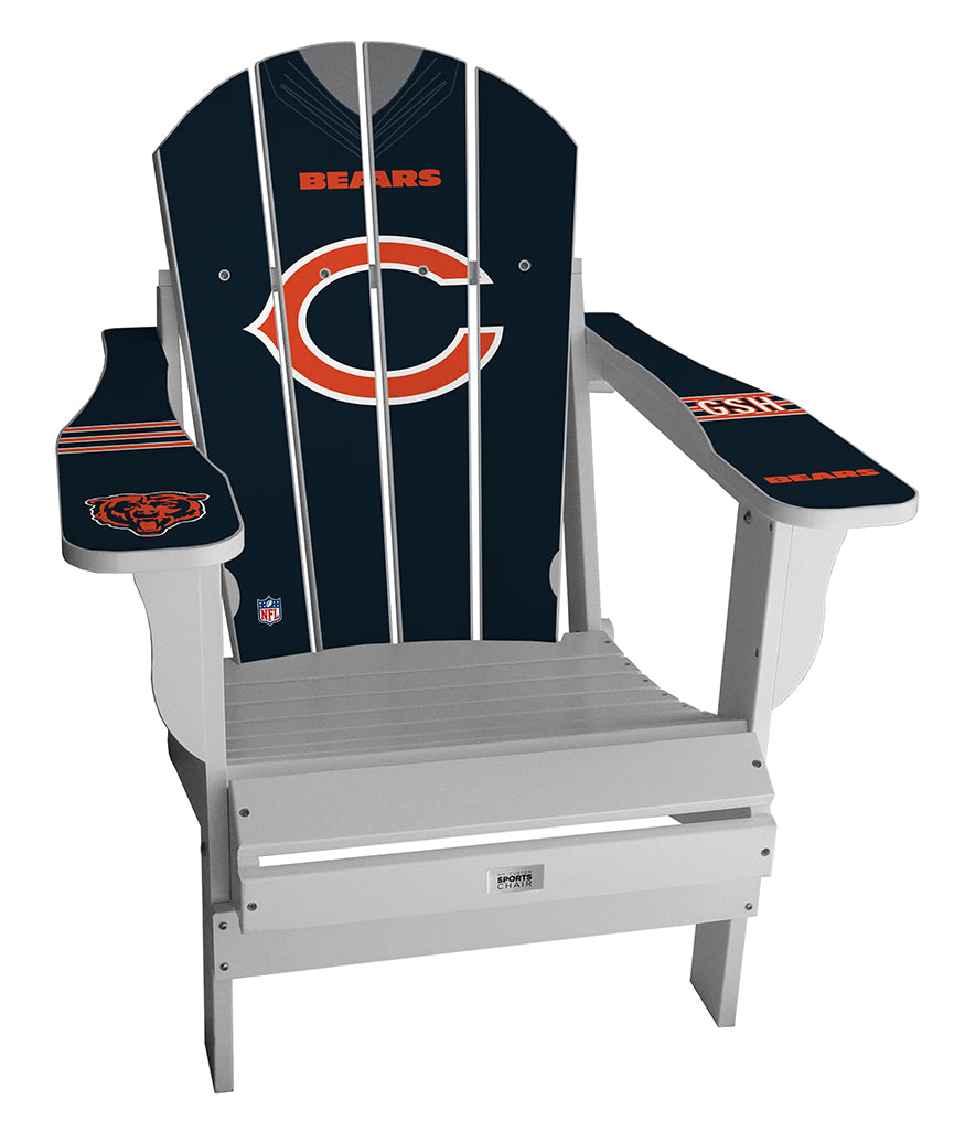 Chicago Bears Complete Custom with personalized name and number Jersey Chair