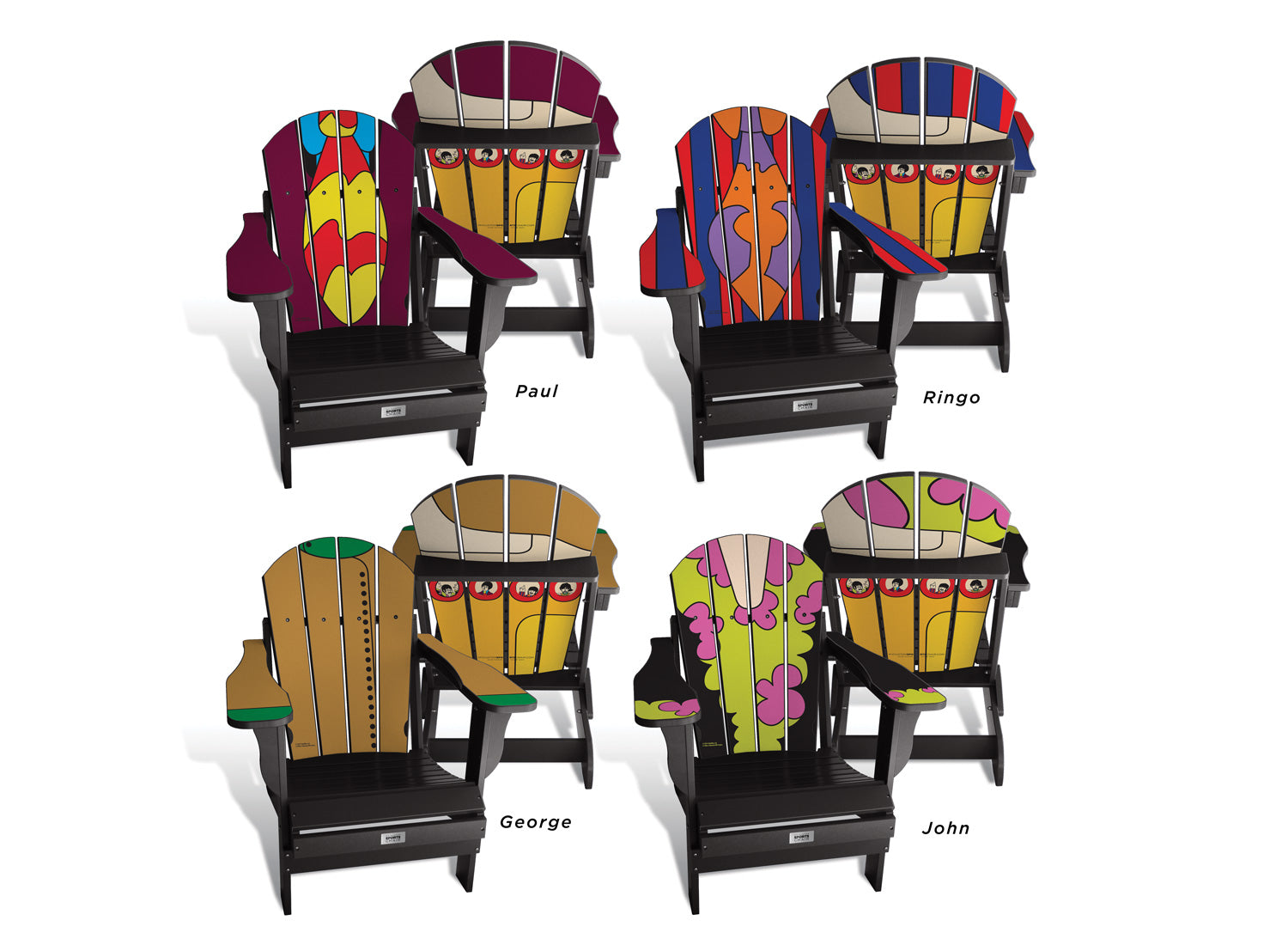 Beatles Combo - Custom Sports Chair -  Fully Completely