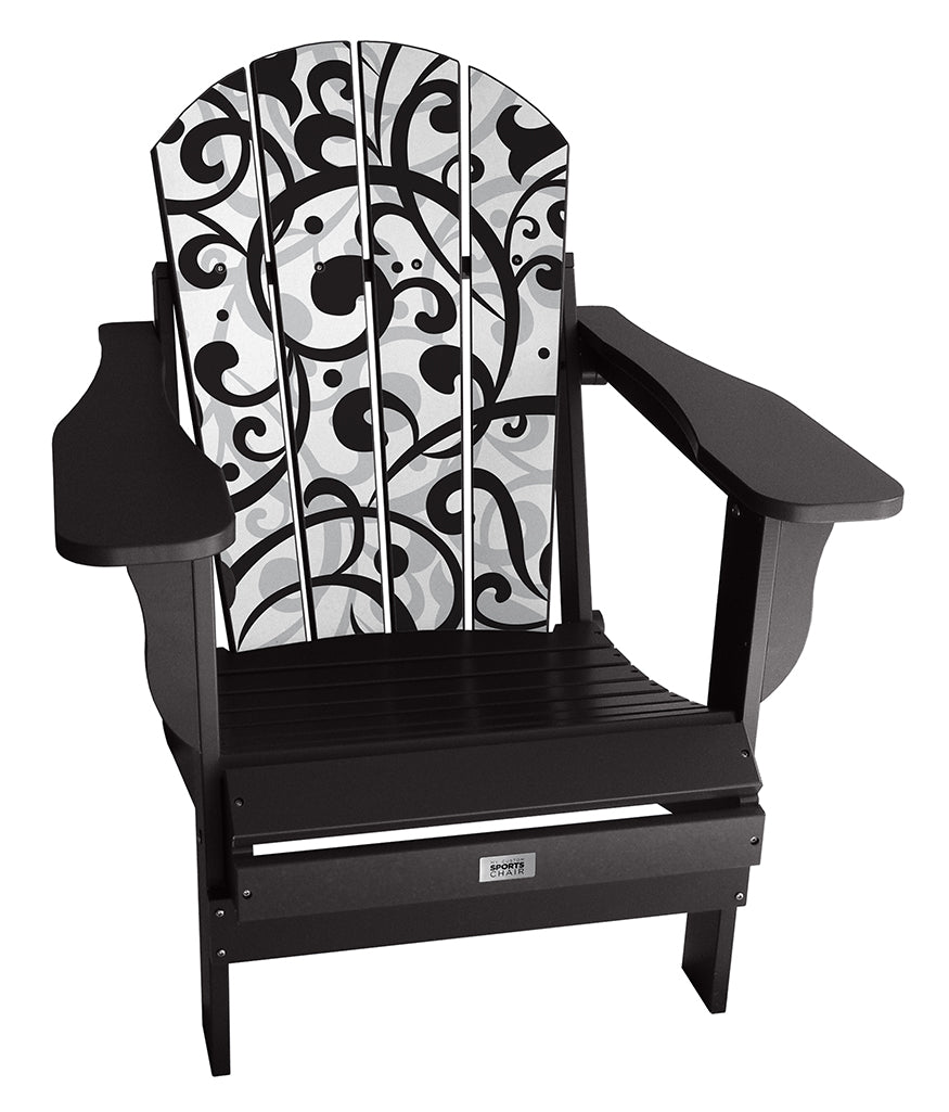 Black Swirl Complete Custom Chair