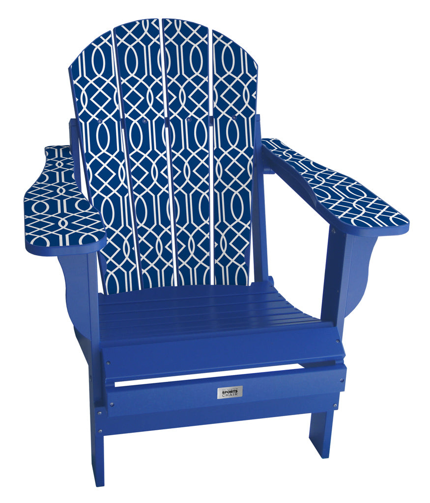 Blue Geometric Complete Custom Lifestyle Chair