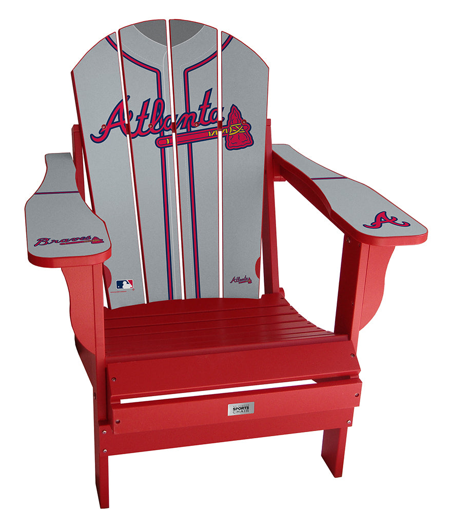 Atlanta Braves Complete Custom with personalized name and number Jersey Chair Mini