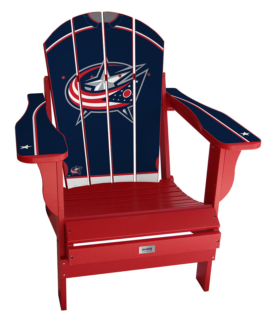 Columbus Blue Jackets® Complete Custom with personalized name and number Jersey Chair