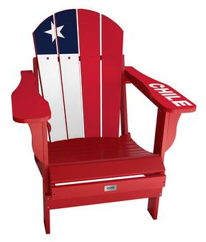 Chile Flag Complete Custom with personalized name and number Chair Mini