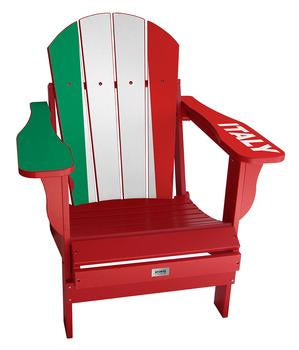 Italy Flag Complete Custom with personalized name and number Chair Mini