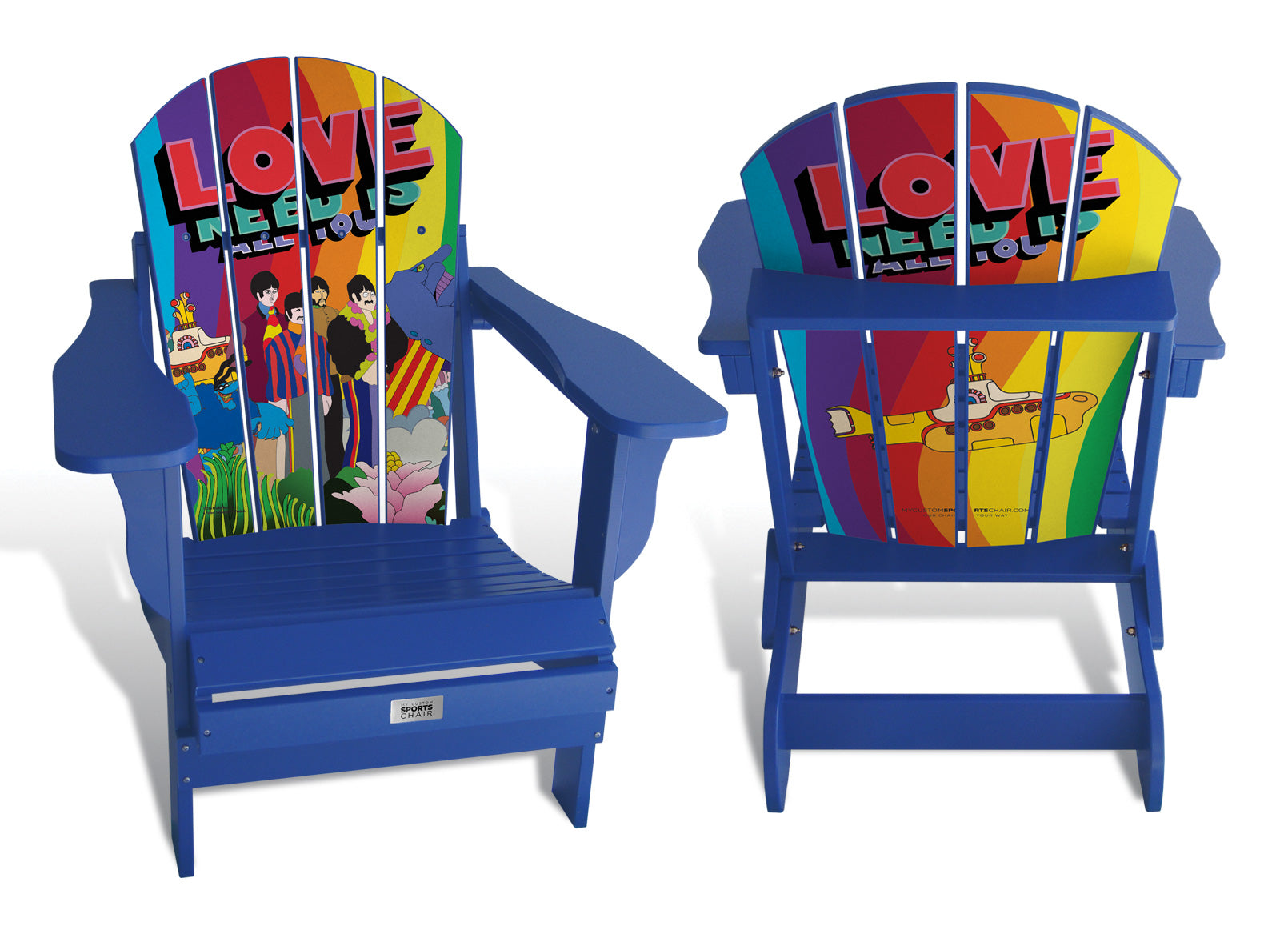 All You Need Is Love - Custom Sports Chair - The Beatles & Apple Corp