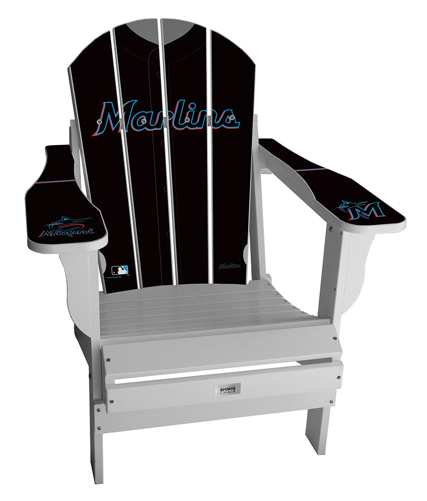 Miami Marlins Complete Custom with personalized name and number Jersey Chair