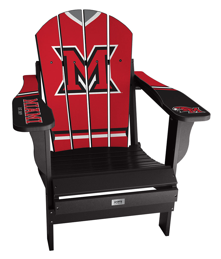 Miami University Complete Custom with personalized name and number Chair