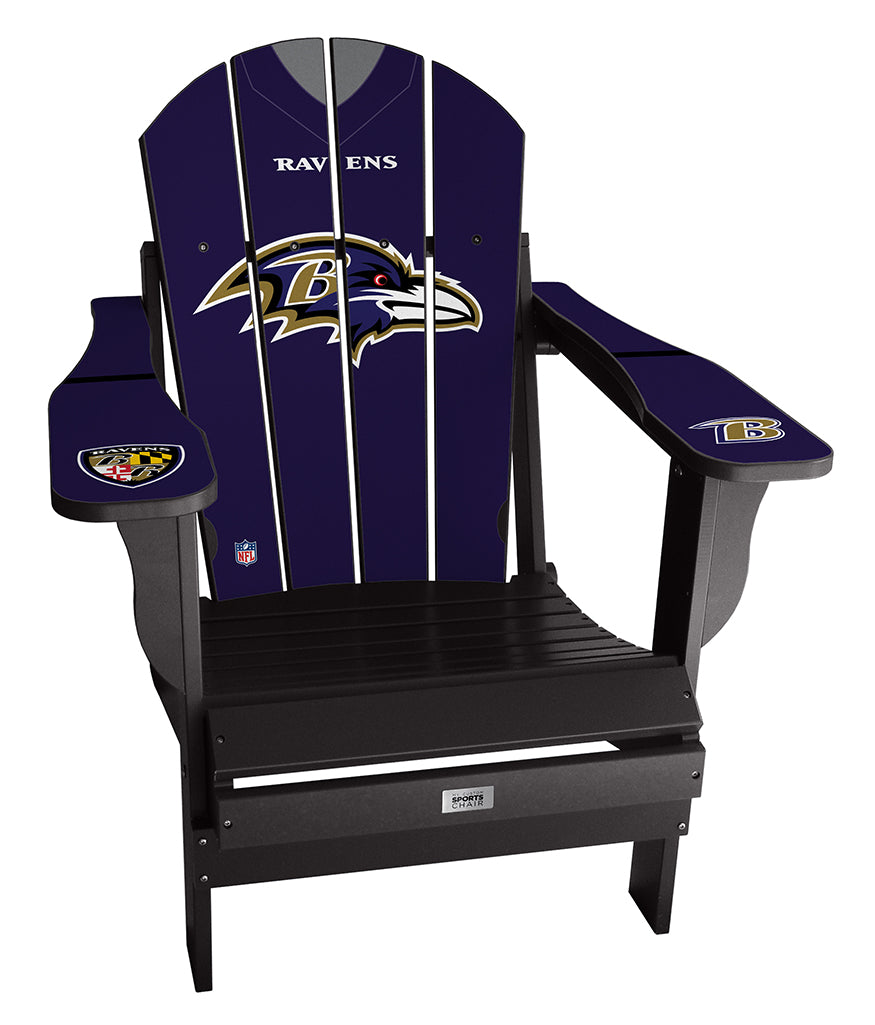 Baltimore Ravens Complete Custom with personalized name and number Jersey Chair