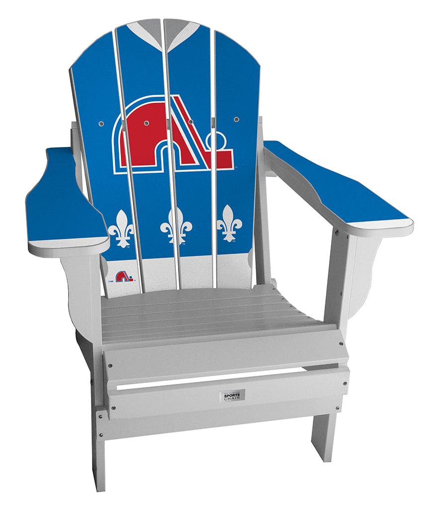 Vintage Quebec Nordiques™ Complete Custom with personalized name and number Jersey Chair