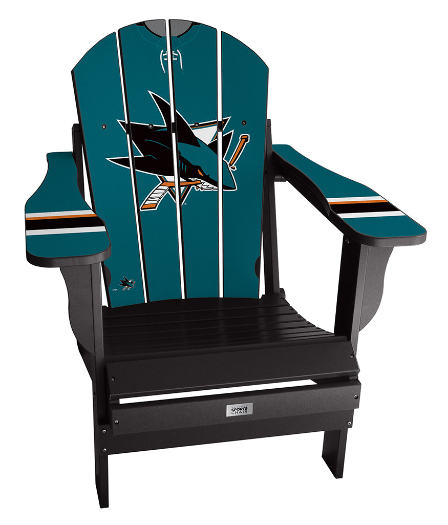 San Jose Sharks® Complete Custom with personalized name and number Jersey Chair