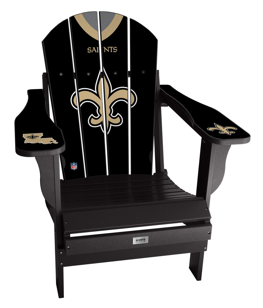 New Orleans Saints Custom with personalized name and number Jersey Chair