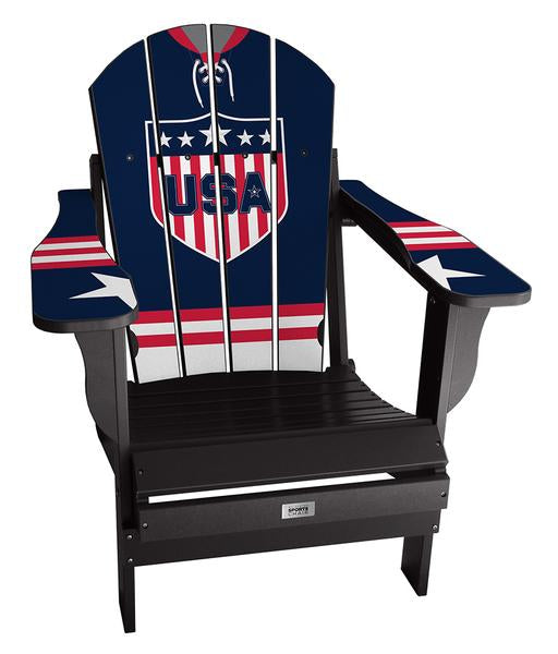 USA Classic International Custom with personalized name and number Chair Mini