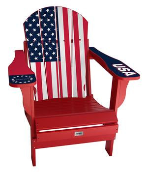 USA Flag Complete Custom with personalized name and number Chair Mini